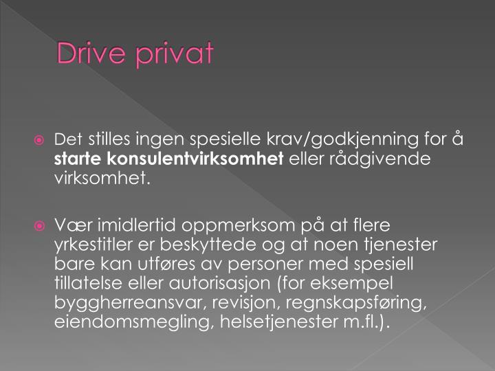 Drive privat