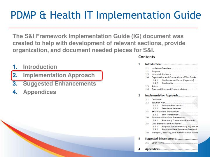 PDMP & Health IT Implementation Guide