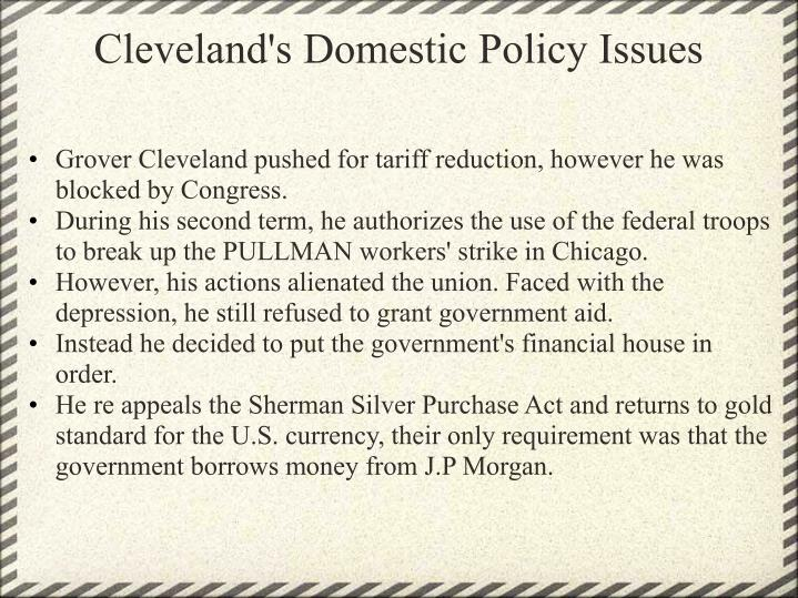 Cleveland's Domestic Policy Issues