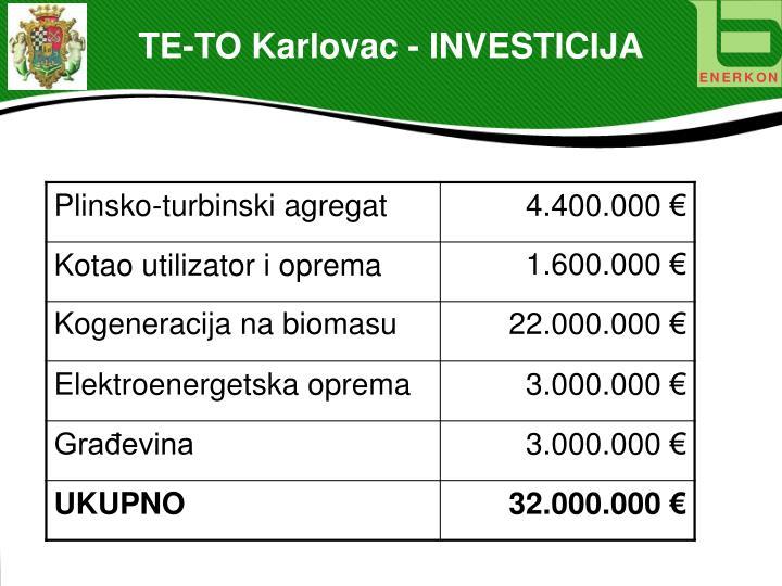 TE-TO Karlovac - INVESTICIJA