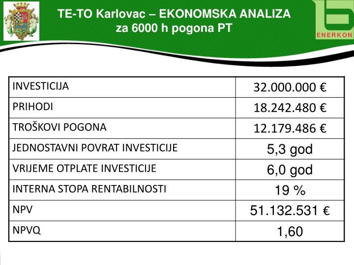 TE-TO Karlovac – EKONOMSKA ANALIZA