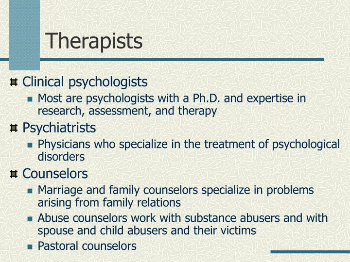 Therapists