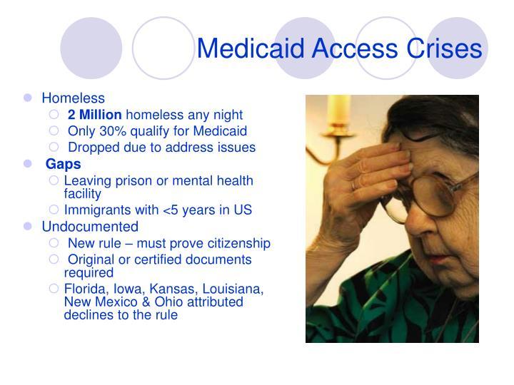 Medicaid Access Crises
