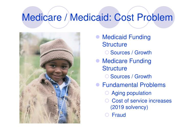 Medicare / Medicaid: Cost Problem