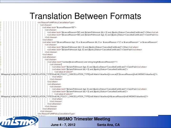 Translation Between Formats
