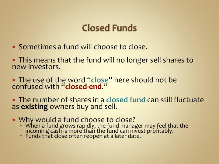 Closed Funds