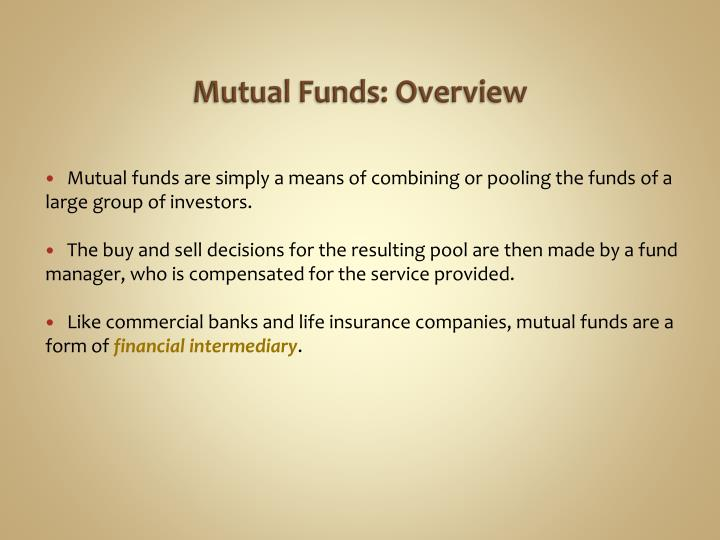 Mutual funds overview