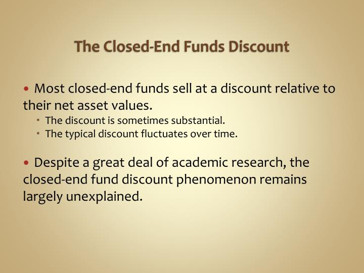 The Closed-End Funds Discount