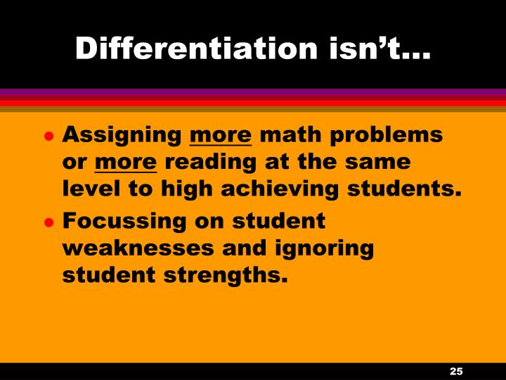 Differentiation isn't...