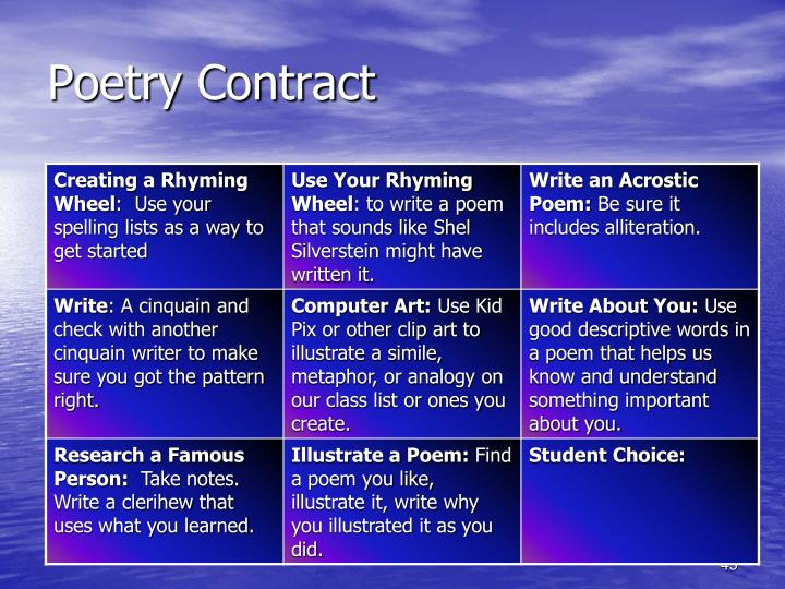 Poetry Contract