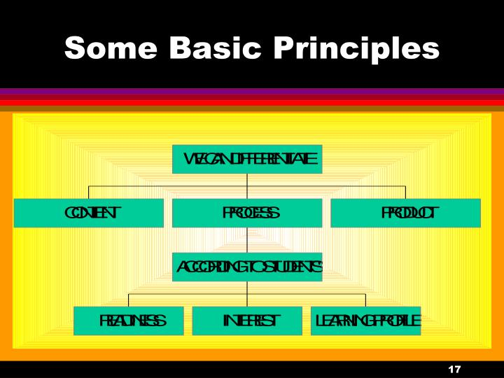 Some Basic Principles