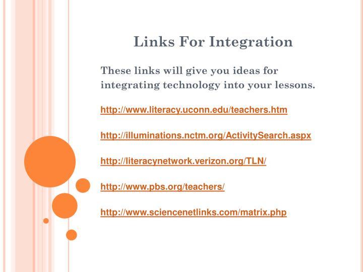 Links For Integration
