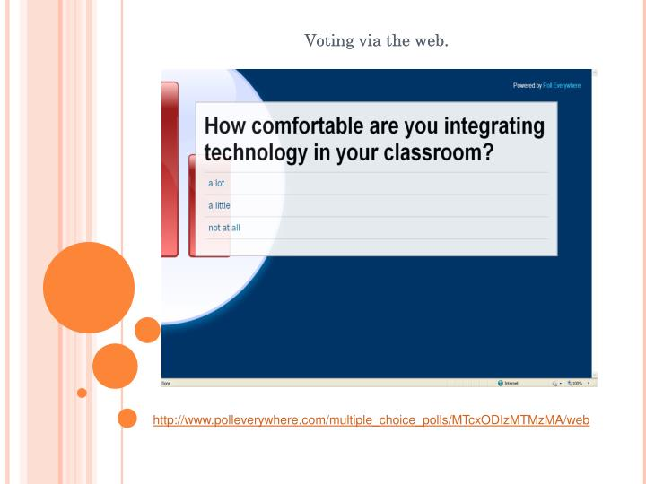 Voting via the web.