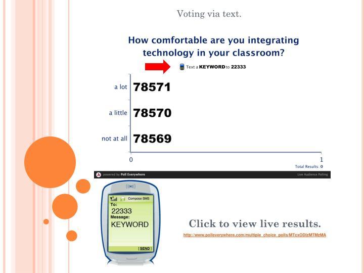Voting via text.