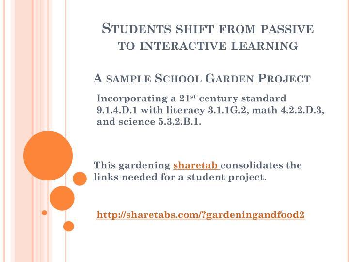 A sample School Garden Project