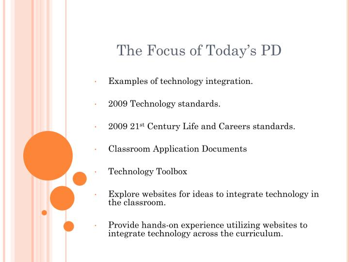 The focus of today s pd