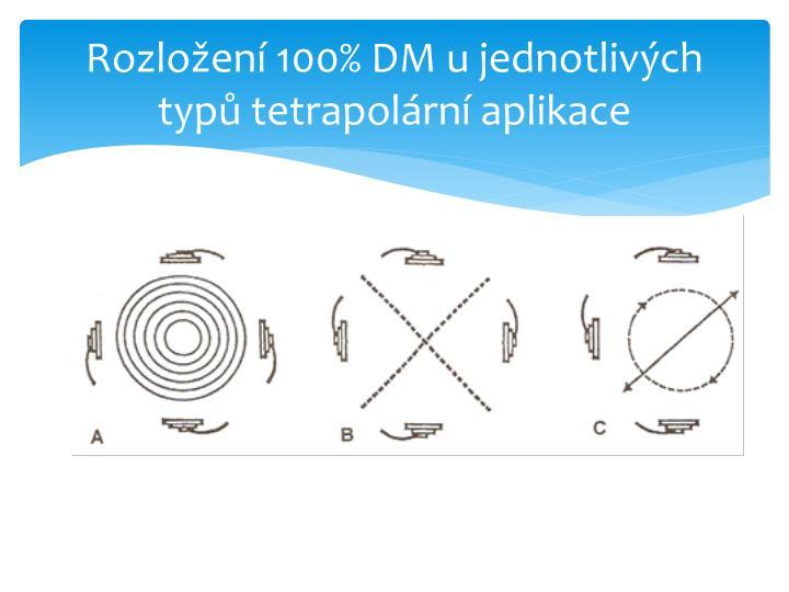Rozložení 100% DM u jednotlivých typů