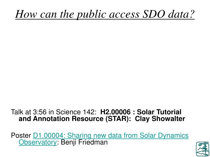 How can the public access SDO data?