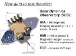 new data to test theories