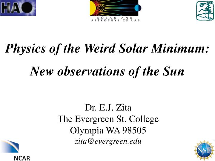 Physics of the Weird Solar Minimum: