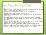 chest tube nursing care