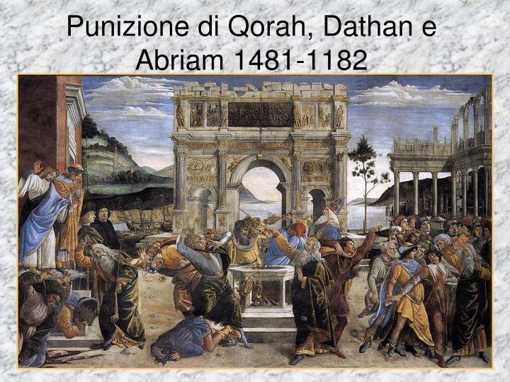 Punizione di Qorah, Dathan e Abriam 1481-1182