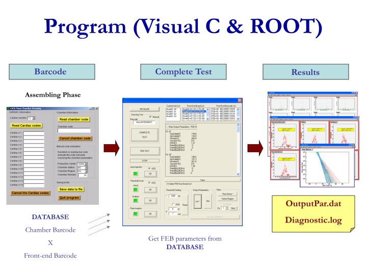 Program (Visual C & ROOT)
