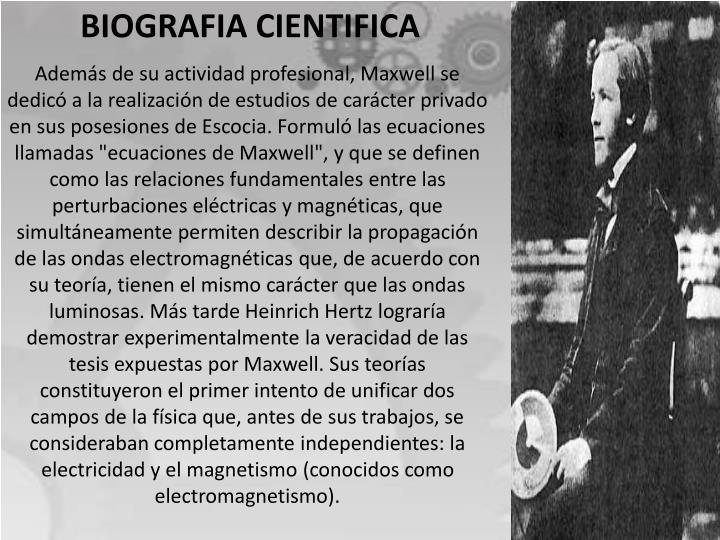 BIOGRAFIA CIENTIFICA