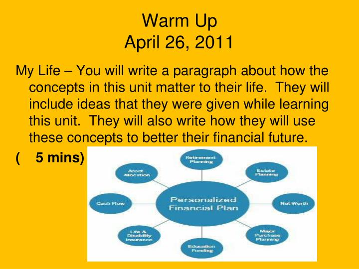 Warm up april 26 2011