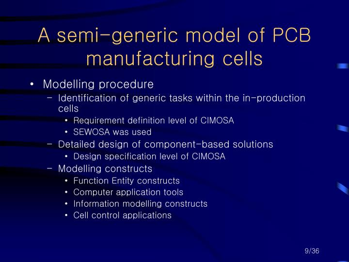 A semi-generic model of PCB manufacturing cells
