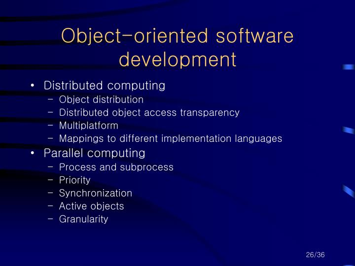 Object-oriented software development
