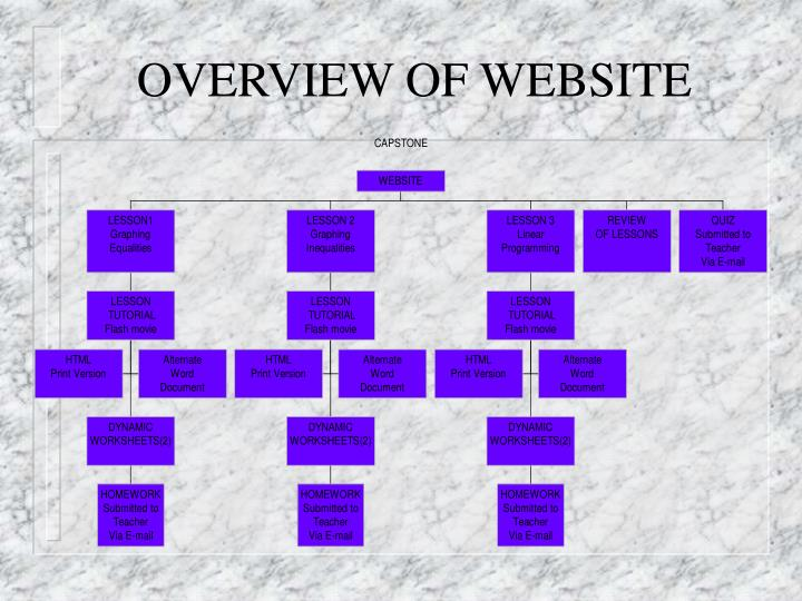 OVERVIEW OF WEBSITE