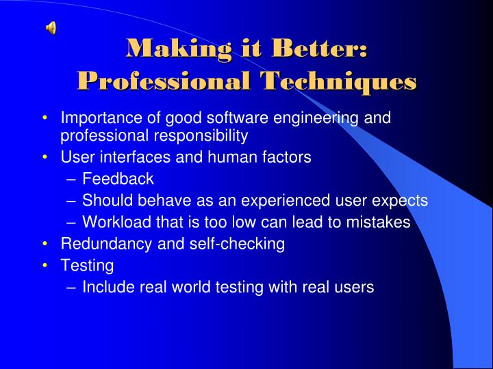 Making it Better:  Professional Techniques