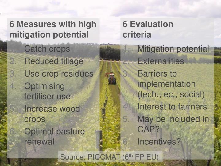6 Evaluation     criteria