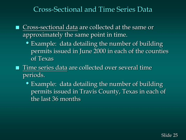 Cross-Sectional and Time Series Data