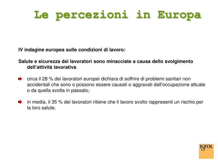 Le percezioni in Europa