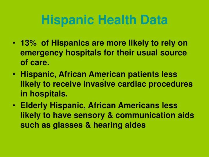 Hispanic Health Data