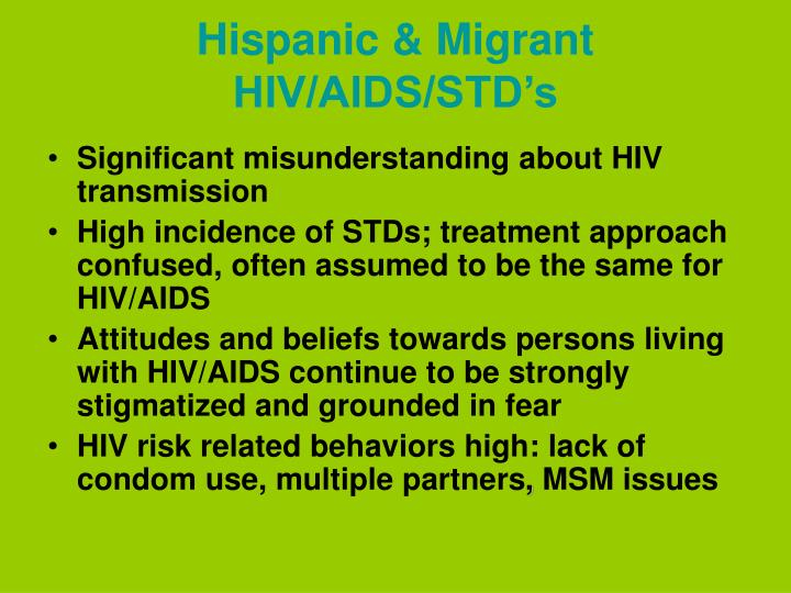 Hispanic & Migrant HIV/AIDS/STD's