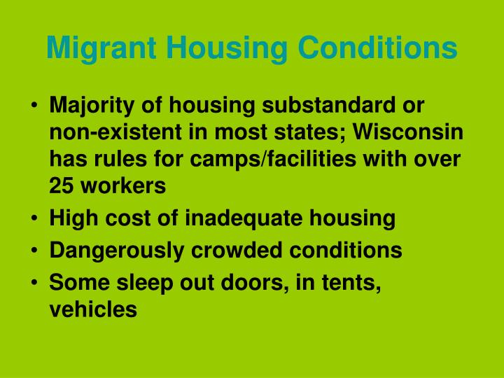 Migrant Housing Conditions