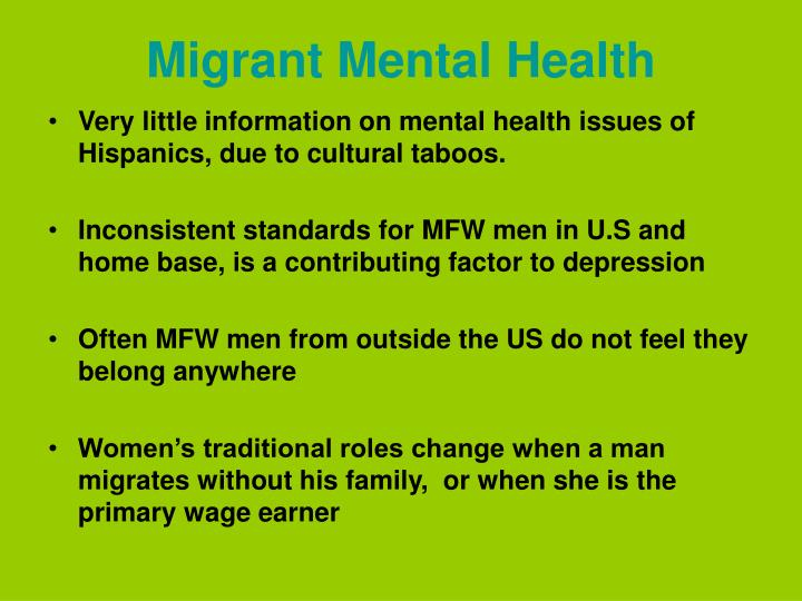 Migrant Mental Health