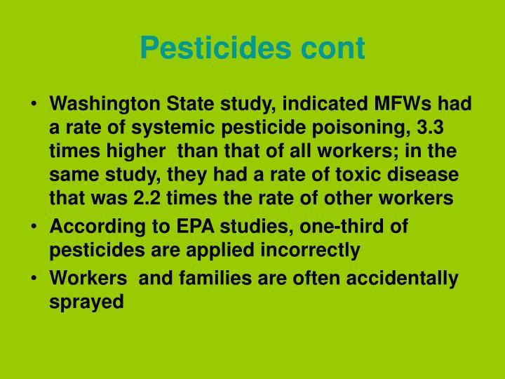 Pesticides cont