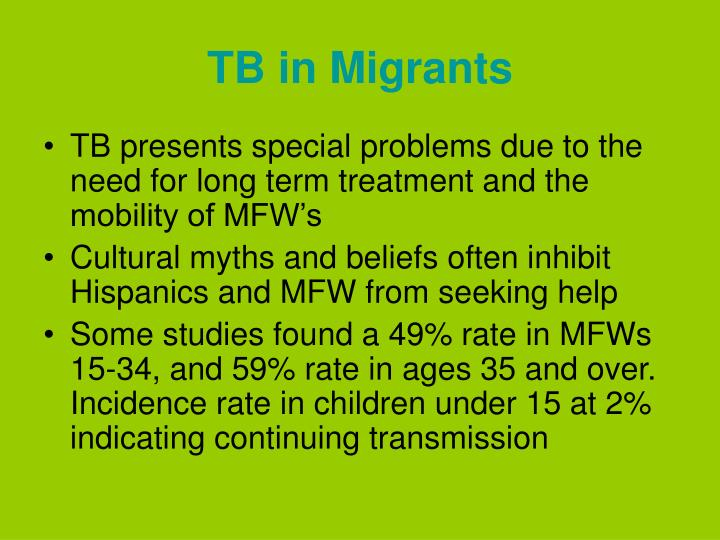 TB in Migrants