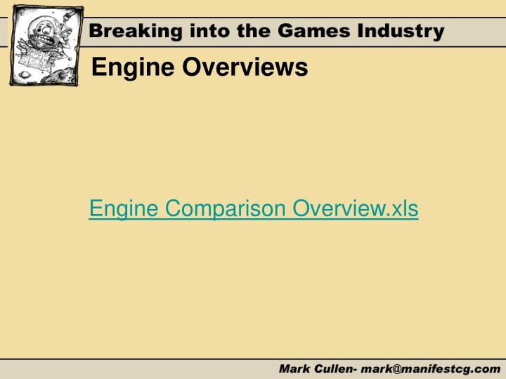 Engine Overviews