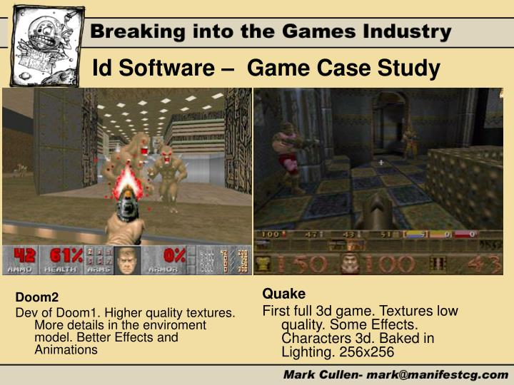 Id Software –  Game Case Study