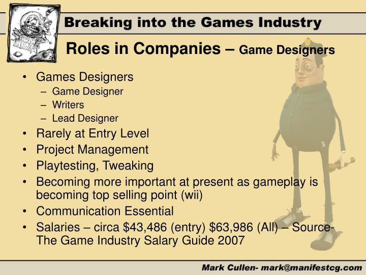 Roles in Companies –