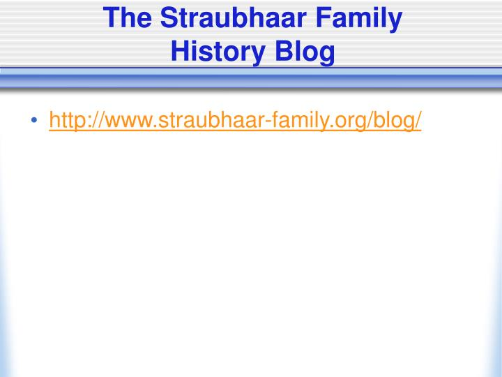 The Straubhaar Family