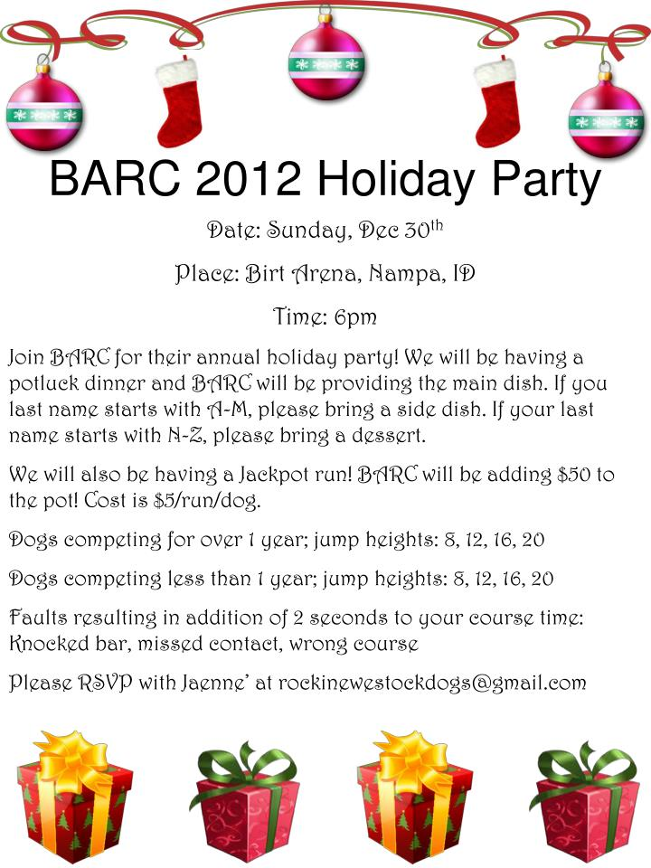 Barc 2012 holiday party