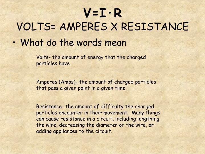 V=I·R