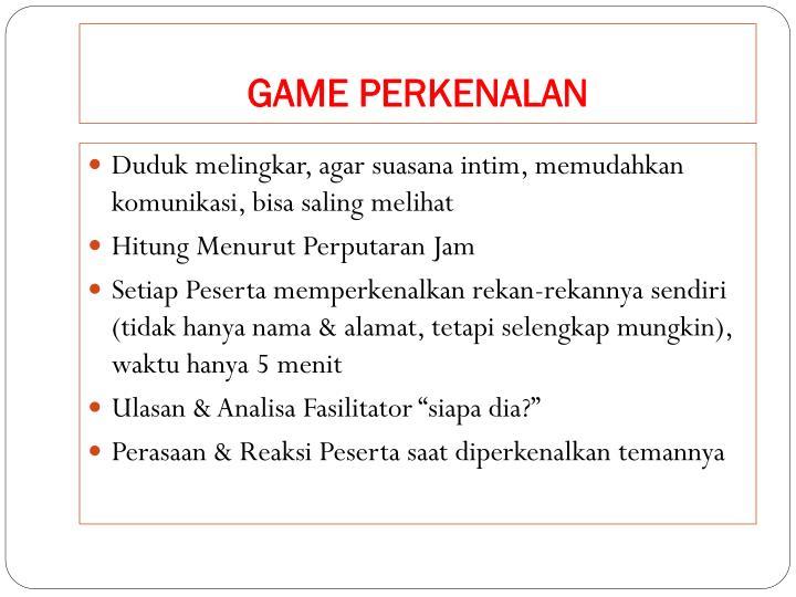 GAME PERKENALAN