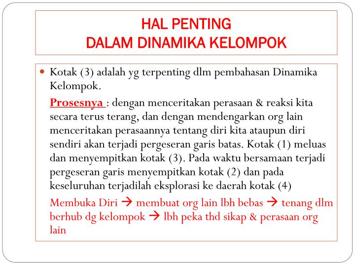 HAL PENTING